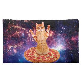 pizza cat - orange cat - space cat makeup bag