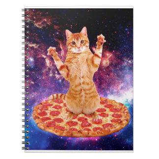 pizza cat - orange cat - space cat notebook