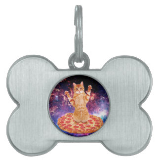 pizza cat - orange cat - space cat pet tag