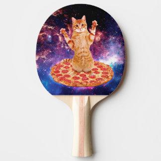 pizza cat - orange cat - space cat ping pong paddle