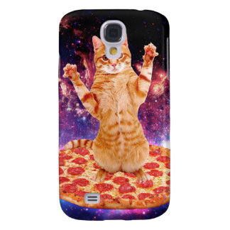 pizza cat - orange cat - space cat samsung galaxy s4 case