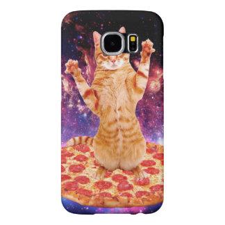 pizza cat - orange cat - space cat samsung galaxy s6 cases
