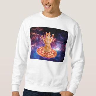 pizza cat - orange cat - space cat sweatshirt