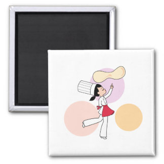 Pizza Chef Art Refrigerator Magnet