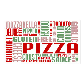 pizza (chit chat) business card template