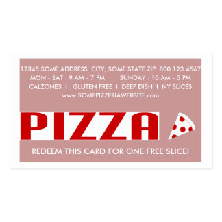 pizza (chit chat) coupon business card templates