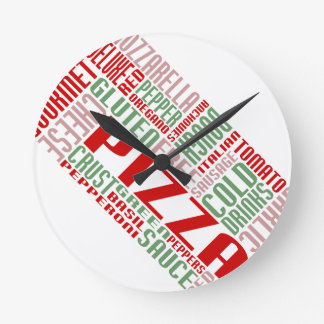 pizza chitChat Round Clocks