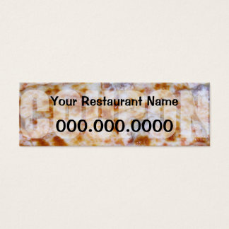 Pizza Coupon - Ready to customize Mini Business Card