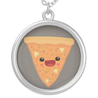 Pizza Cutie Round Pendant Necklace
