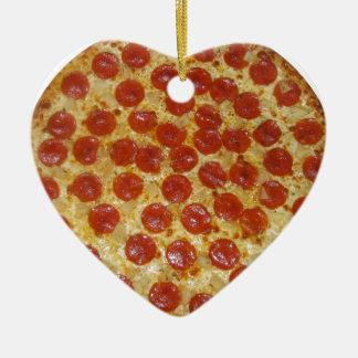 Pizza...Delicious Pepperoni Pizza Ceramic Ornament