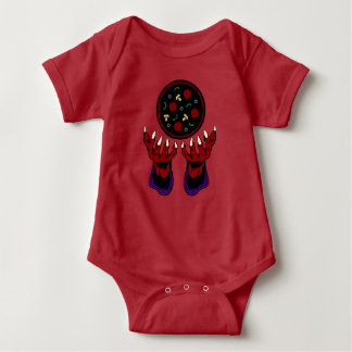 Pizza Demon – Summoner of Deliciousness Baby Bodysuit