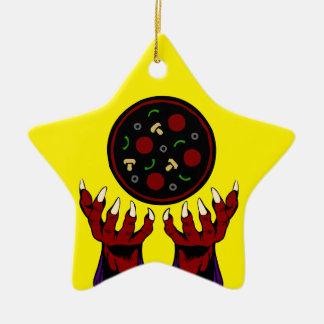 Pizza Demon – Summoner of Deliciousness Ceramic Ornament