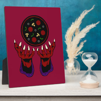 Pizza Demon – Summoner of Deliciousness Plaque