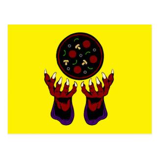 Pizza Demon – Summoner of Deliciousness Postcard