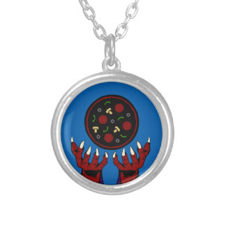 Pizza Demon – Summoner of Deliciousness Silver Plated Necklace