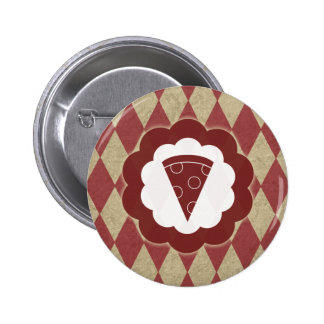 pizza diamonds pinback button