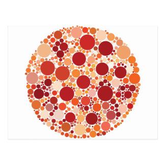pizza dots postcard