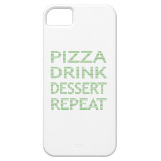 PIZZA DRINK DESSERT REPEAT  - strips - blue iPhone 5 Cases
