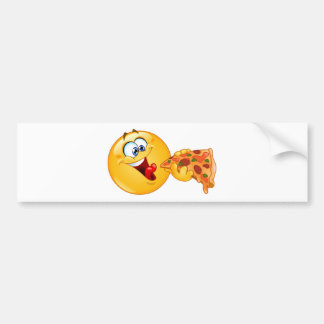 pizza emoji bumper sticker