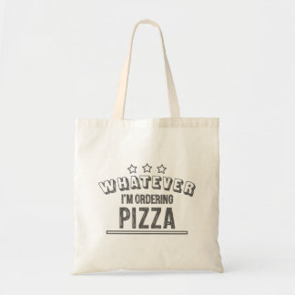 Pizza>everything else tote bag