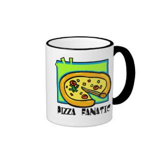 Pizza Fanatic Ringer Mug