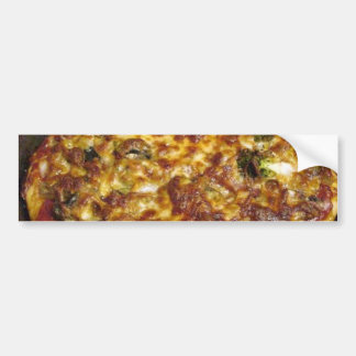 Pizza Food Cooking Broccoli Mushrooms Cheese Bumper Stickers