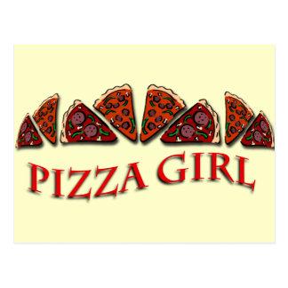 Pizza Girl Postcard
