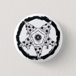Pizza-gram Pizza Pentagram Button