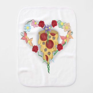 Pizza Has My Heart Burp Cloth