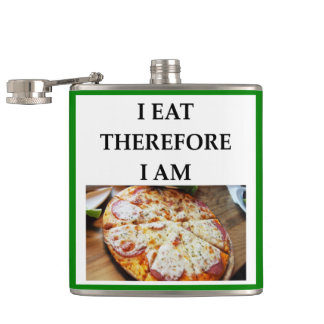 pizza hip flask