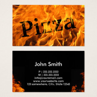 Pizza Hot Burning Fire Business Card