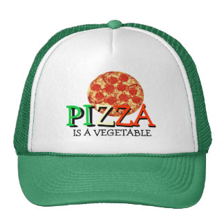 Pizza Is A Vegetable Funny Quote Cap