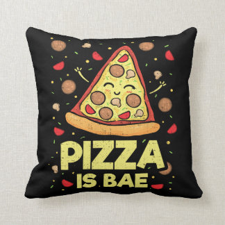 Pizza Is Bae - Cute Kawaii Funny Cartoon - Novelty Cushion