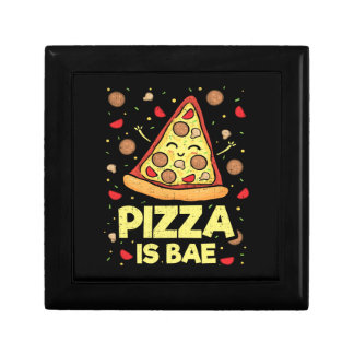 Pizza Is Bae - Cute Kawaii Funny Cartoon - Novelty Gift Box