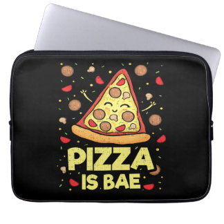 Pizza Is Bae - Cute Kawaii Funny Cartoon - Novelty Laptop Sleeve