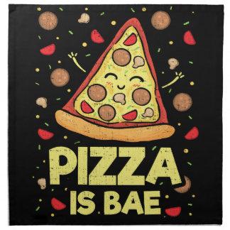 Pizza Is Bae - Cute Kawaii Funny Cartoon - Novelty Napkin