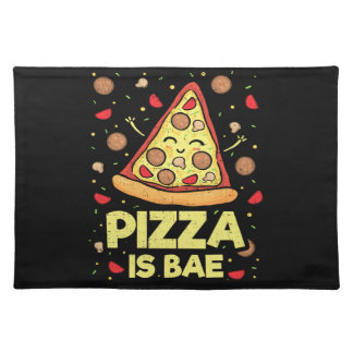 Pizza Is Bae - Cute Kawaii Funny Cartoon - Novelty Placemat