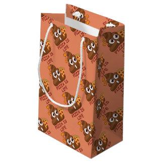 Pizza Is Life Emoji Small Gift Bag