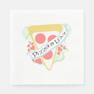 Pizza is Love Disposable Napkin