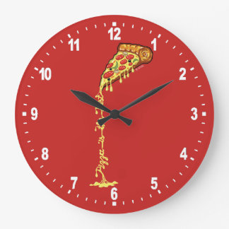 Pizza is the best large clock