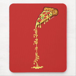 Pizza is the best mouse pad