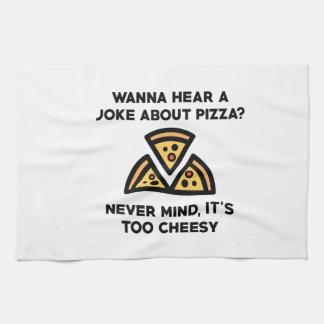 Pizza Joke Tea Towel