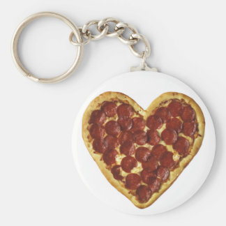 Pizza key chain