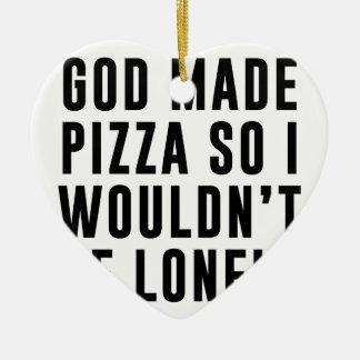 Pizza Lonely Ceramic Ornament