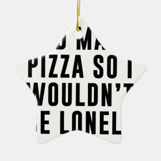 Pizza Lonely Ceramic Ornament