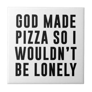 Pizza Lonely Ceramic Tile