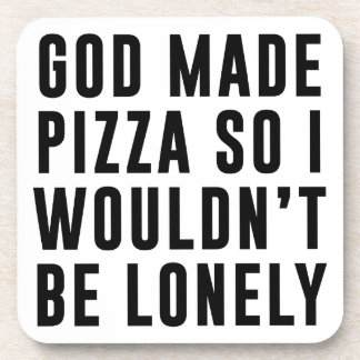 Pizza Lonely Drink Coasters