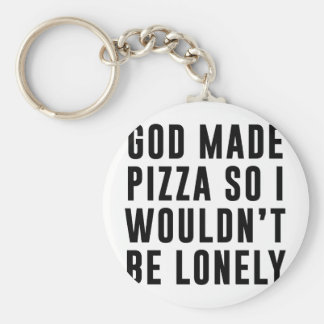 Pizza Lonely Key Ring