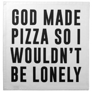 Pizza Lonely Napkin
