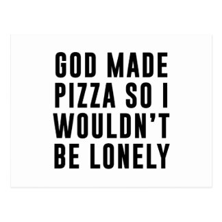Pizza Lonely Postcard